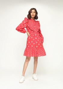 Roma Short Dress, Tasha Red