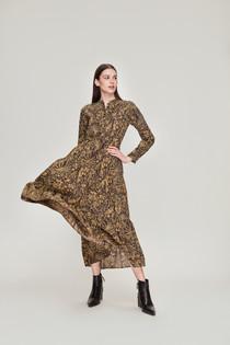 Diwali Dress, Therese Floral Mustard