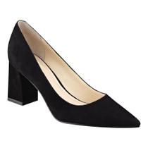 Zala Block Heel - Black Suede