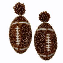 ERF397 Football Earrings