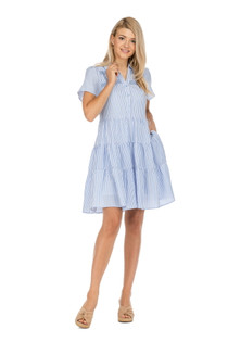 51A7198 STRIPE TIERED DRESS
