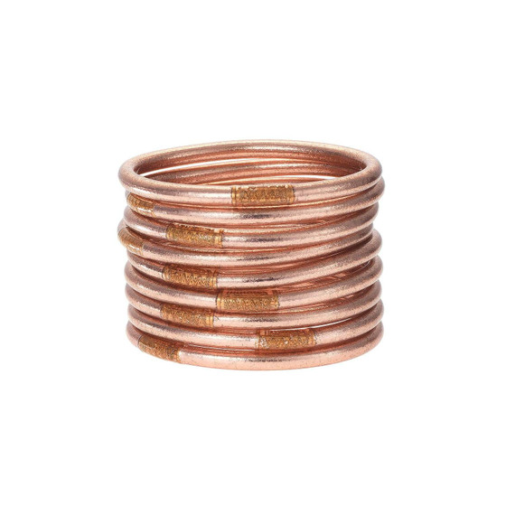 BUDHAGIRL ROSE GOLD ALL WEATHER BANGLE