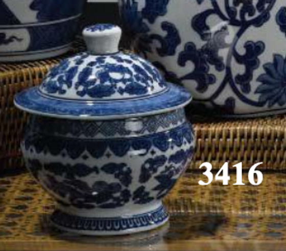 """3416 CANTON COLLECTION 6"""" COVERED JAR"""