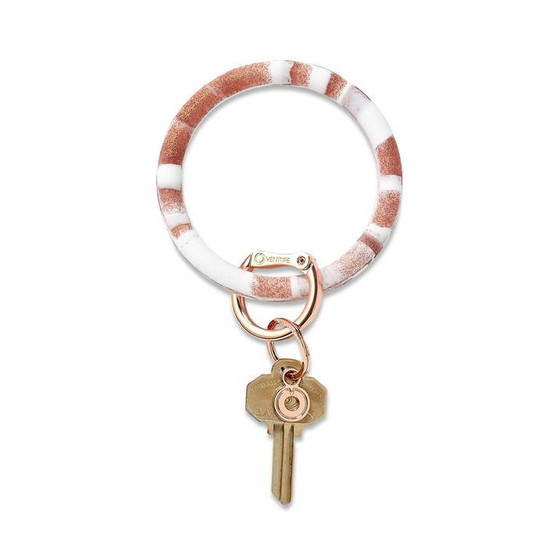 OVENTURE KEY RING - ROSE GOLD MARBLE