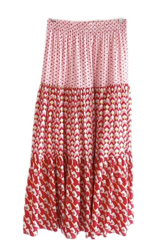 FRILLY SKIRT - RED PHOENIX