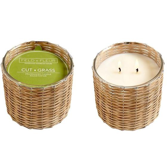 CTGGL2 CUT GRASS 2 WICK CANDLE
