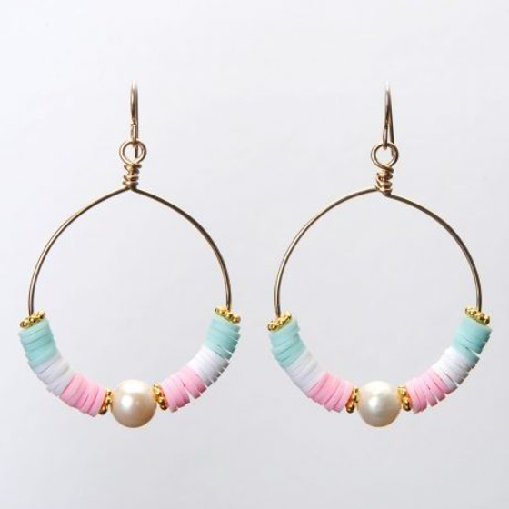 CRISTINA EARRING - COTTON CANDY