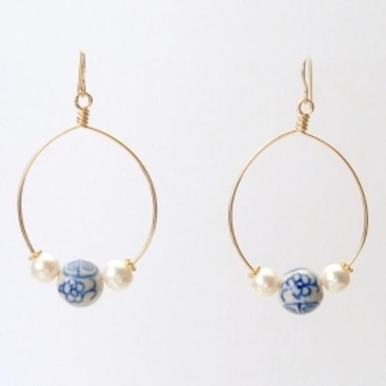 CRISTINA EARRING - BLUE BEAUFORT