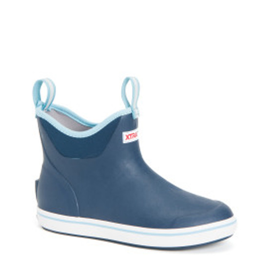 XWAB201 RUBBER ANKLE DECK BOOT - NAVY