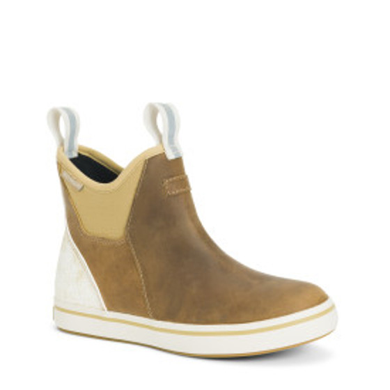 XWAL901 LEATHER ANKLE DECK BOOT - TAUPE