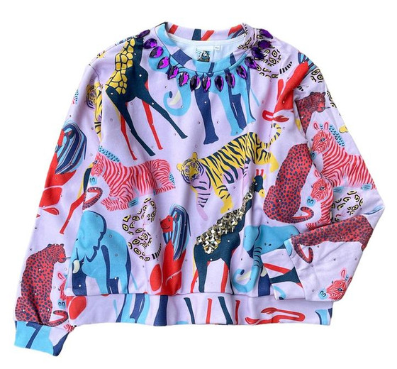 1052 Jewel Jungle Sweatshirt - Pink