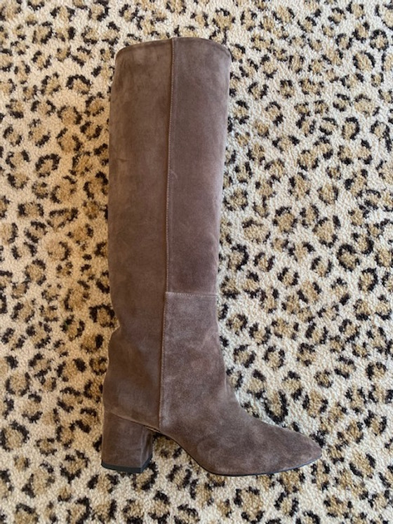Toral High Suede Boots - Taupe