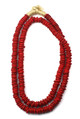 TRADE BEADS NECKLACE - POLISHED RED