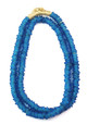 TRADE BEADS NECKLACE - MATTE LT BLUE