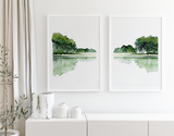 Reflections Pair Printed Artwork
