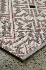 Taupe/Shell outdoor flat weave rug