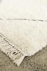 shaggy, bohemian rug