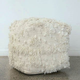Ottoman - Natural White -Wool/Cotton