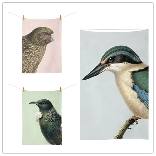 Hushed NZ Birds Tea Towel (Set Of 3)