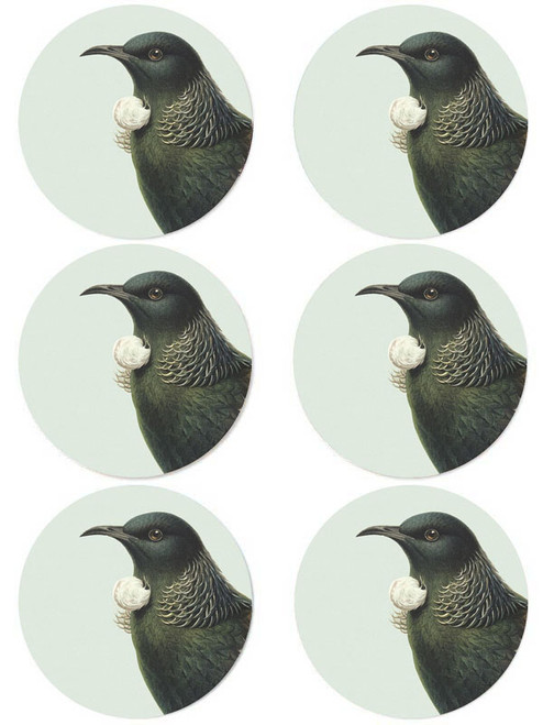 Hushed Green Tui Coaster (Pack of 6)