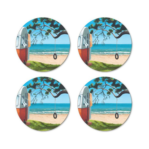 Graham Young - Tyre Swing Coaster (Pack of 4)