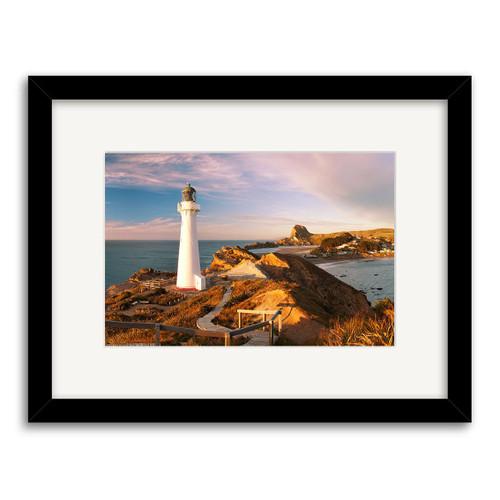 Castle Point Lighthouse Printed Art - Framed (Black or White)