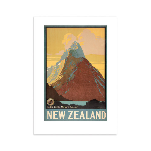 Mitre Peak Tourist A4 Print Art