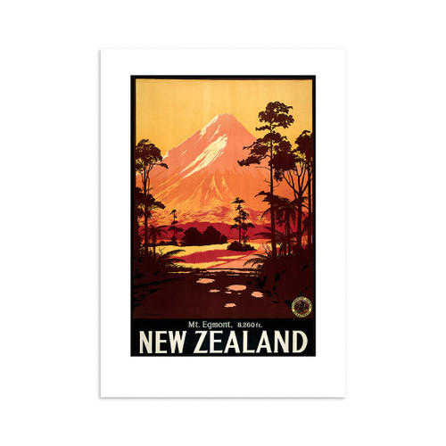 Mt Egmont Tourist A4 Print Art