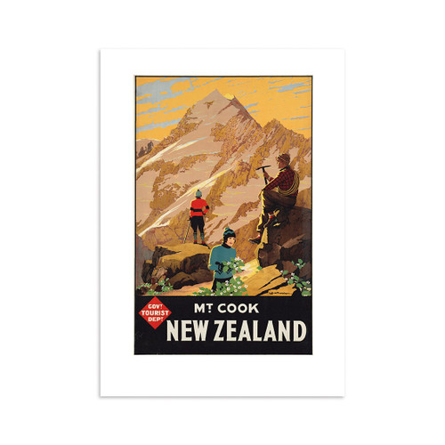 Mt Cook Tourist A4 Print Art