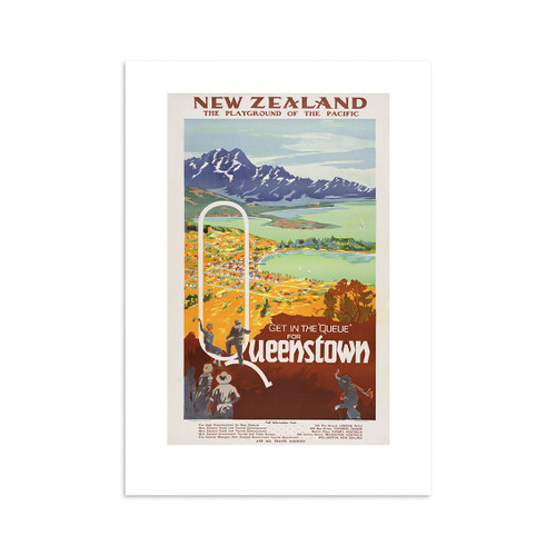 Get in the Queue Tourist A4 Print Art