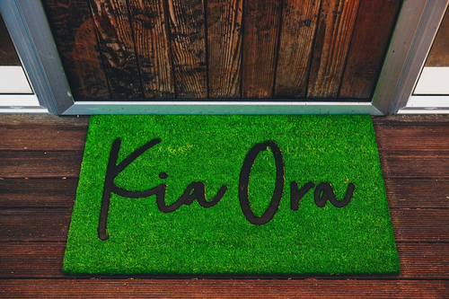 Kia Ora Door Mat - Grass Green