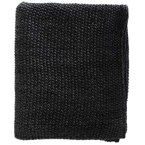 Milford Moss Stitch Throw -  Black/Charcoal