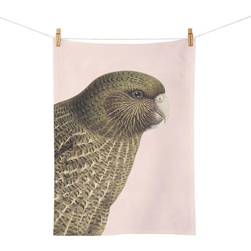 Hushed Pink Kakapo Tea Towel