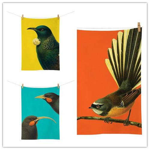 Bright NZ Birds Tea Towel (Set Of 3)
