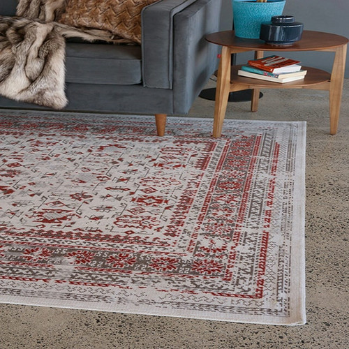 Angelina Rug - Natural/Rust