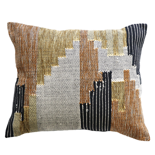 Puebla Cushion - Ochre-Tan Multi