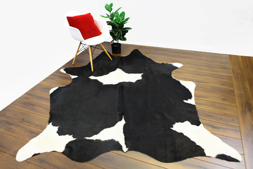 COWHIDE NATURAL BLACK & WHITE 10