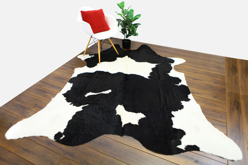 COWHIDE NATURAL BLACK & WHITE 12