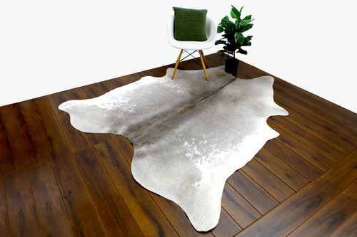 COWHIDE NATURAL GREY & WHITE 02