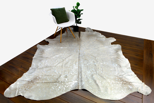 COWHIDE NATURAL METALIC