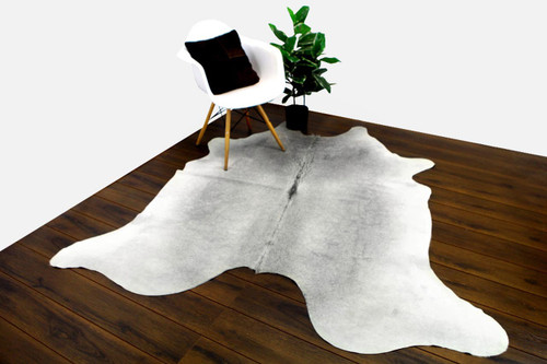 COWHIDE NATURAL GREY & WHITE 07