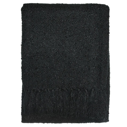 Black throw