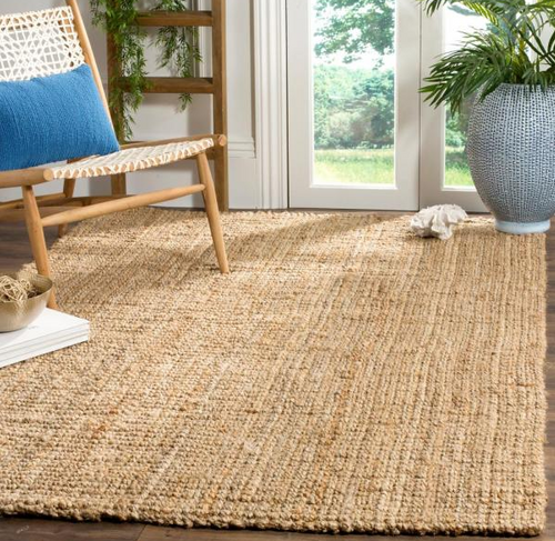 Square Handwoven Indian Jute Rug