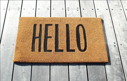 Hello - Door Mat