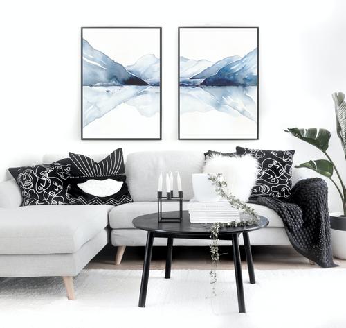Mount Cook Pair Printed Artwork