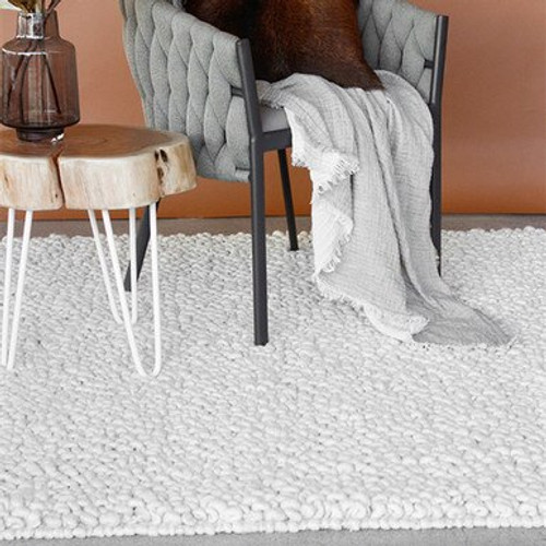 White Straw rug