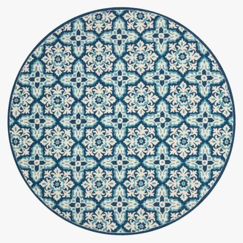 Ivory  Blue rug