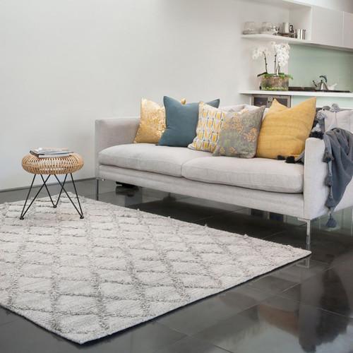 Grey wool rug,