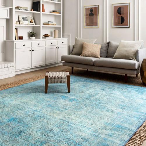 Aqua colour rug