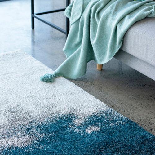 spa blue rug